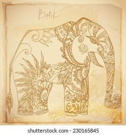 Batik vintage background
