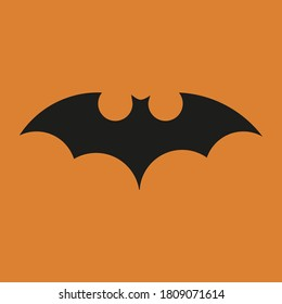 batman logo on orange background