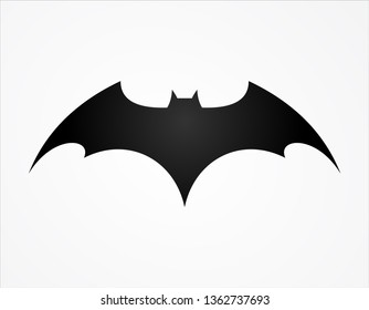 batman wing logo superhero silhouette logo template