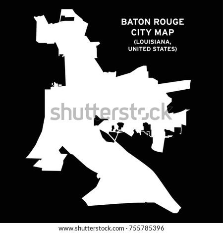 Baton Rouge Louisiana USA City Map Stock Vector (Royalty Free ...