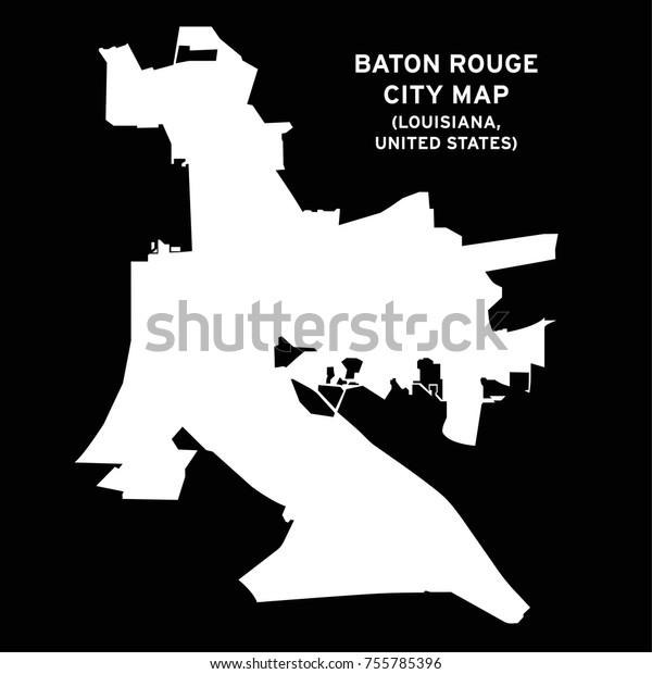 Baton Rouge Louisiana Usa City Map Stock Vector (Royalty ...