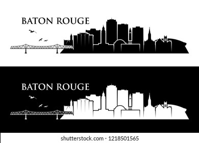 Baton Rouge skyline - Louisiana, United States of America, USA - vector illustration