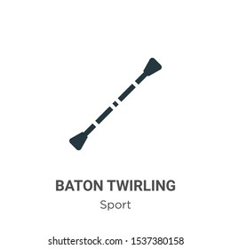 Baton twirling vector icon on white background. Flat vector baton twirling icon symbol sign from modern sport collection for mobile concept and web apps design.