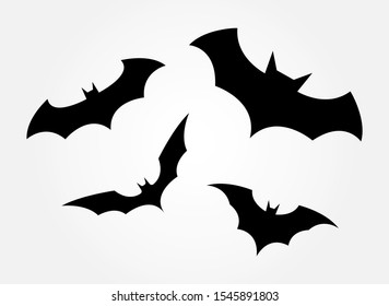 Bats on a white background. Batman icons. Bat set icon vector. Vector  illustration.