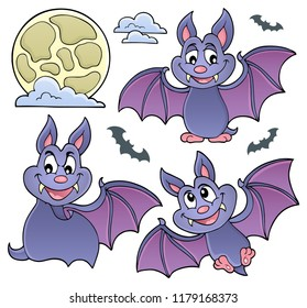 Bats theme collection 1 - eps10 vector illustration.