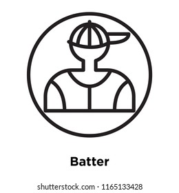 Batter icon vector isolated on white background, Batter transparent sign , linear sport symbols