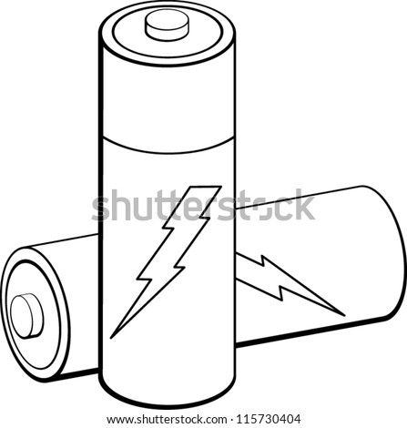 Batteries Stock Vector Royalty Free 115730404