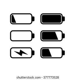 Batteries icon set vector