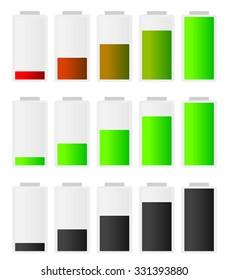 Battery, accumulator vector