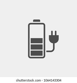 Battery charge flat vector icon