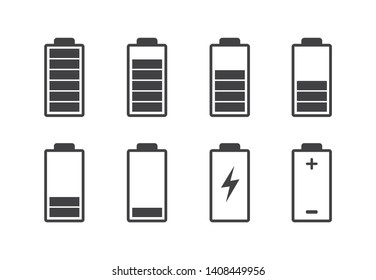 Battery charge icon. Vector illustration. on white background