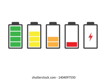 Battery charge indicator icon. Vector illustration. on white background