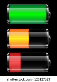 Battery charge status - vector illustration