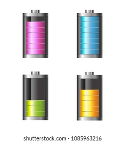 Battery charge vector illustration on white background