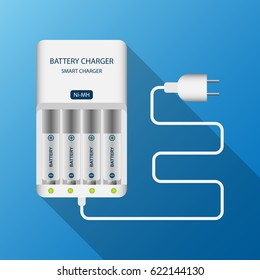 Battery charger control recharge machine