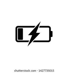 battery charger icon vector logo