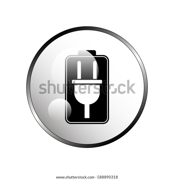 Battery charging icon.