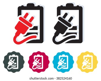 Battery Charging Icon - Illustration