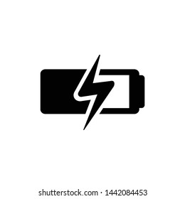 Battery charging icon symbol vector illustration