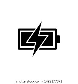 Battery Charging Icon Vector Illustration
