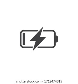 Battery charging icon, vector illustration
