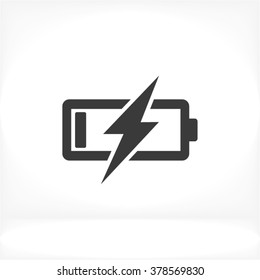 Battery Charging vector icon