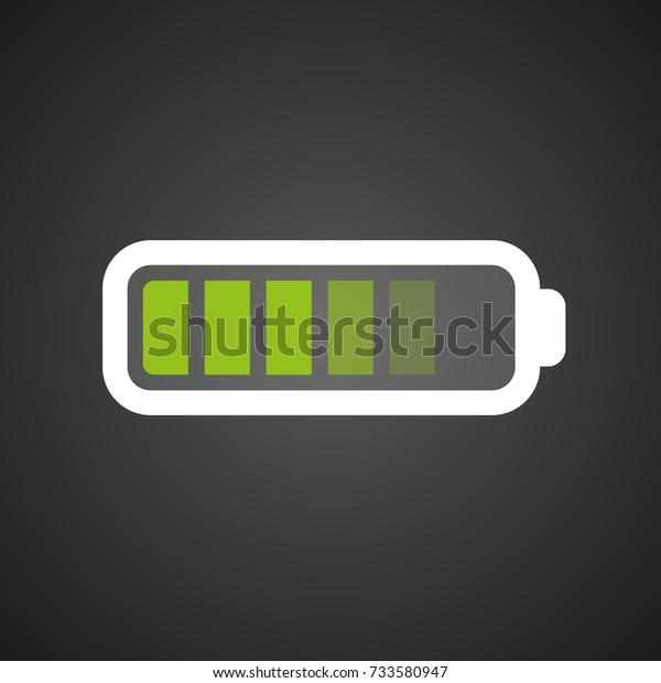 Battery Flat Icon Charging Download Battery Stock Vector