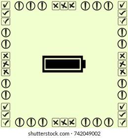 Battery full icon, accumulator vector illustration