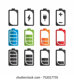 Battery icon flat design.