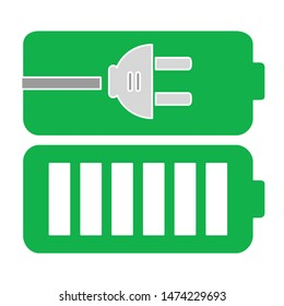battery icon. flat illustration of battery vector icon. battery sign symbol
