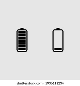 battery icon set isolated vector illustration