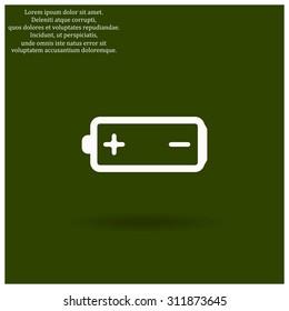 battery. icon. vector design