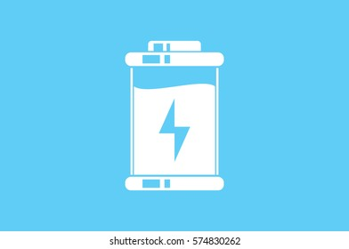 battery icon vector EPS 10, abstract sign charger flat design,  illustration modern isolated badge for website or app - stock info graphics.