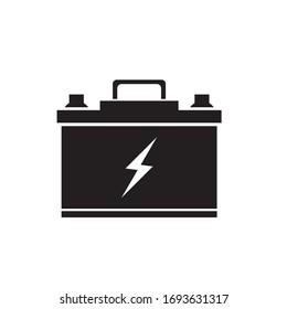 Battery icon, vector logo design