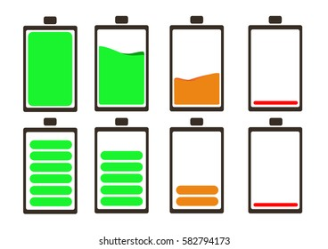 Battery icon,Battery icon on white background