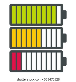 Battery infographics. Flat illustration of battery vector infographics for web