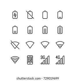 Battery levels and wifi signals - Mobile concept