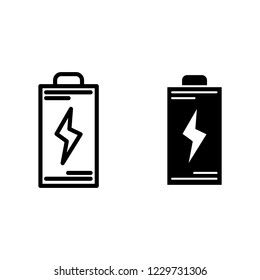 Battery line and glyph icon. Energy vector illustration isolated on white. Accumulator outline style design, designed for web and app. Eps 10