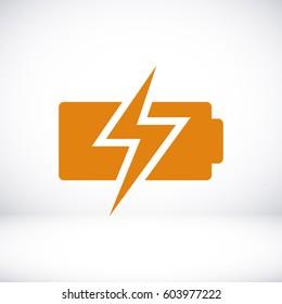 Battery load icon, vector illustration. Flat design eps 10