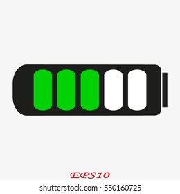 battery for the phone icon, vector illustration eps10