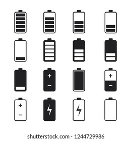 battery set icon vector