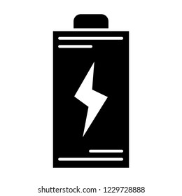 Battery solid icon. Energy vector illustration isolated on white. Accumulator glyph style design, designed for web and app. Eps 10