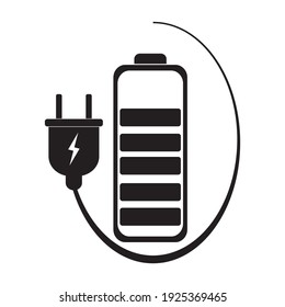 Battery symbol, web and computer icon