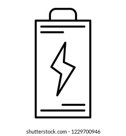 Battery thin line icon. Energy vector illustration isolated on white. Accumulator outline style design, designed for web and app. Eps 10