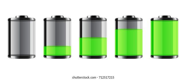Battery. Vector.