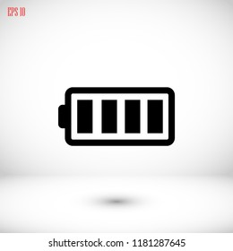 battery vector icon, Vector EPS 10 illustration style