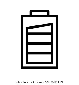 battery icon images stock photos vectors shutterstock https www shutterstock com image vector battery vector thin line icon 1687583113