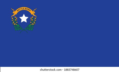 Battle Born Flag. Happy Nevada Day. Celebration for Nevada. Vector Banner and Greeting card of Nevada day