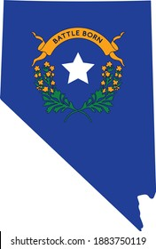 Battle Born Symbol. State of Nevada. Celebration for Nevada. Blue for Nevada. Celebration. Vector Banner and Greeting card of Nevada day