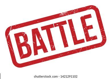 Battle rubber stamp. Red Battle rubber grunge stamp vector illustration - Vector